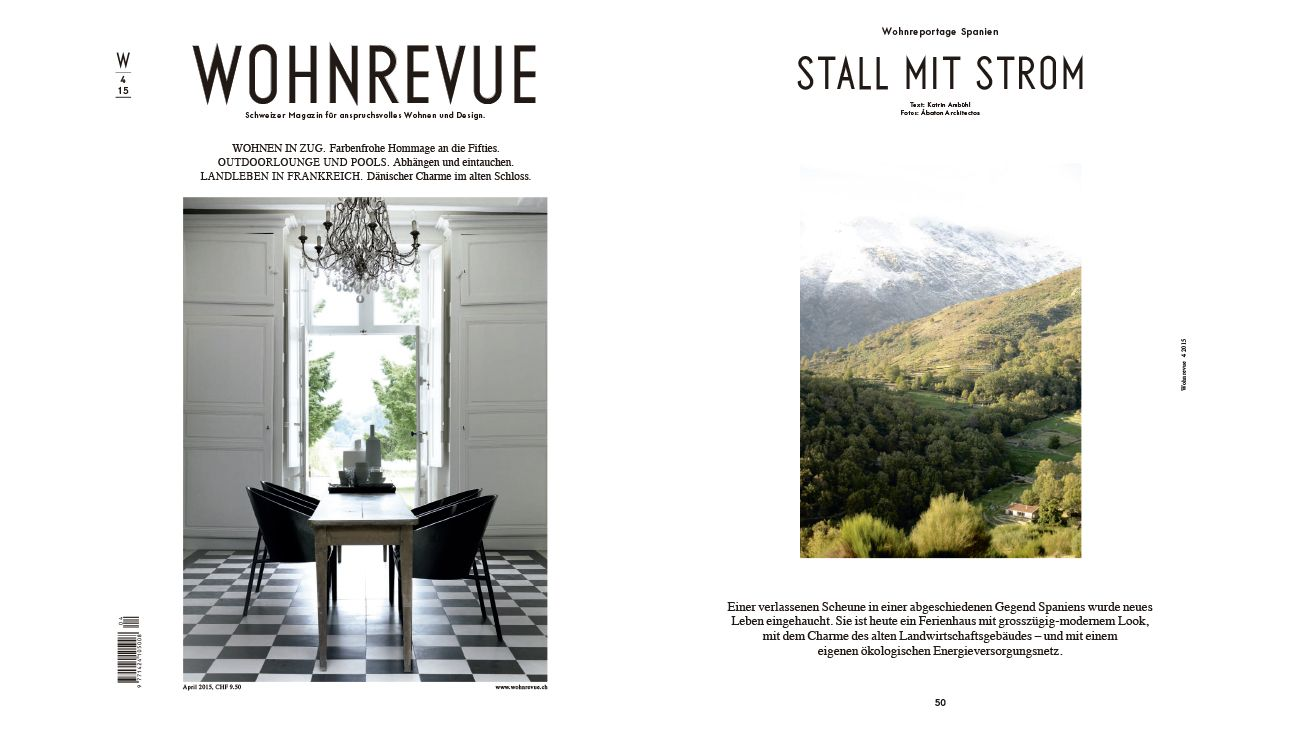WOHNREVUE (SWITZERLAND) APRIL 2015  0