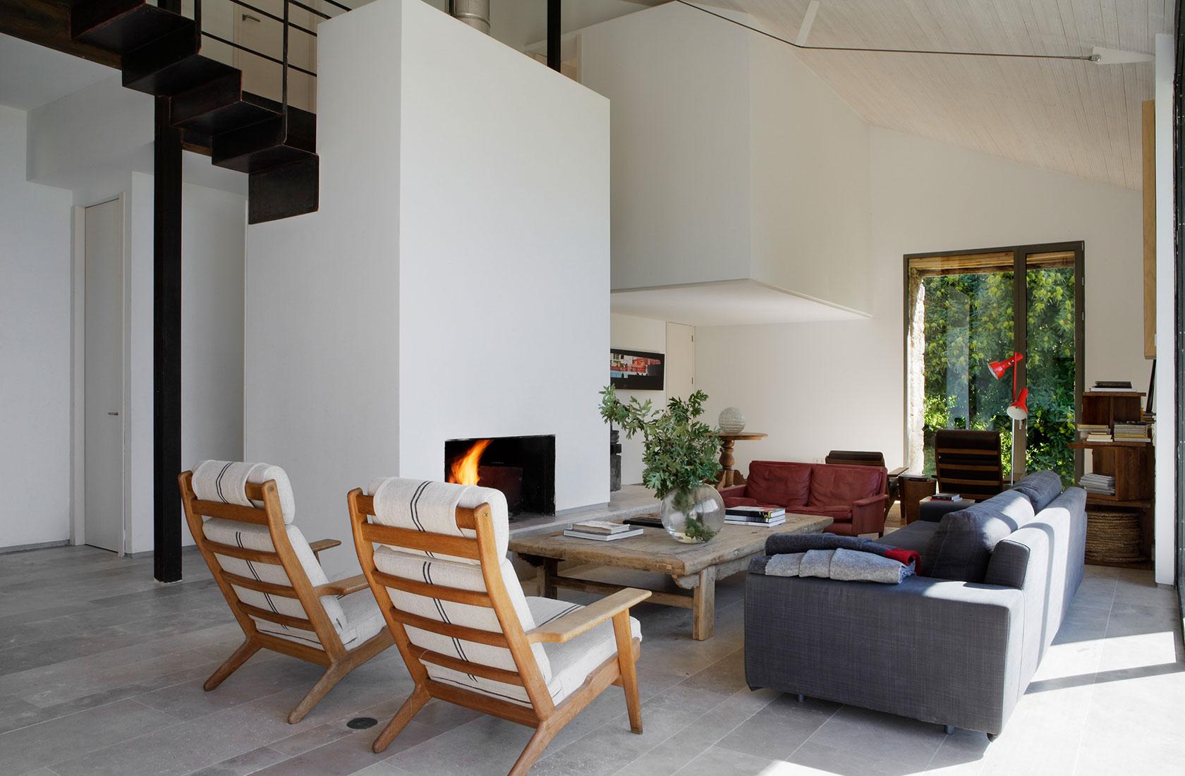 Vista general del Salón de la casa Finca en Extremadura