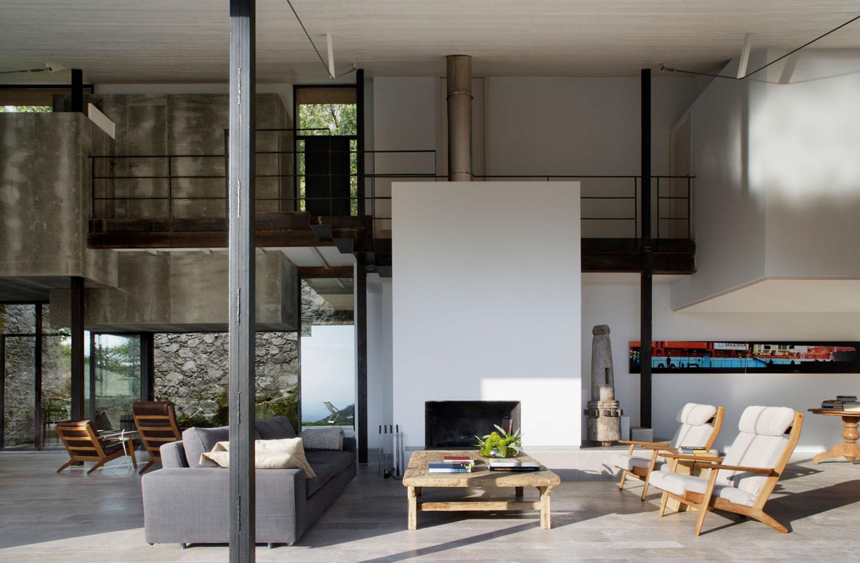 Salón visto desde el exterior de Casa en Finca Extremadura