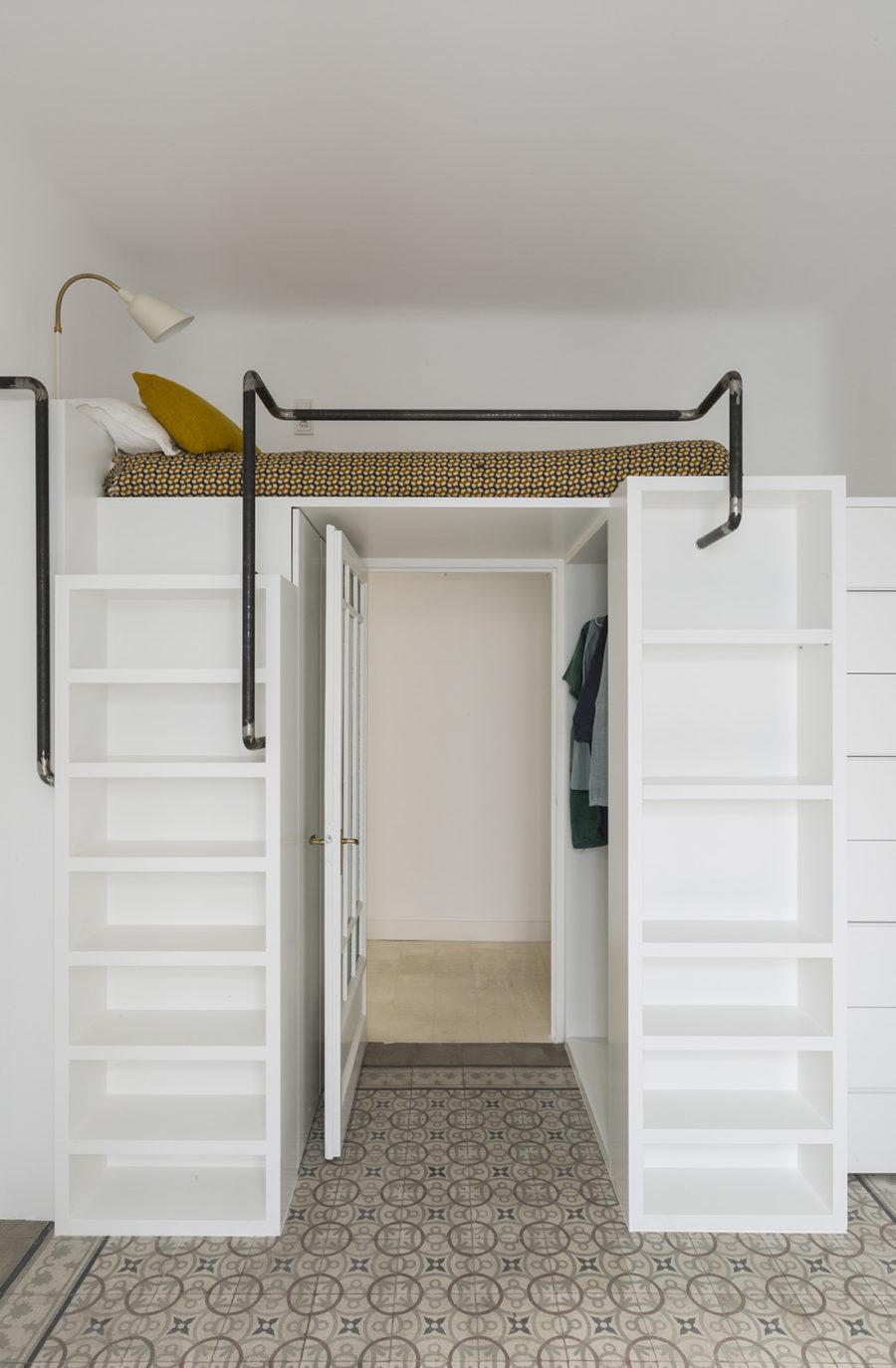 Detalle del dormitorio juvenil de la reforma integral Sagasta