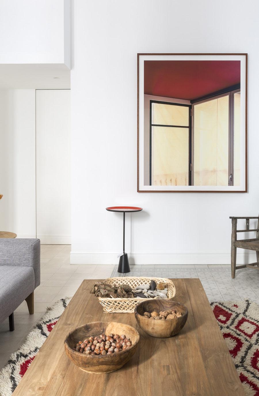 sala de estar en la reforma integral en sagasta I en madrid