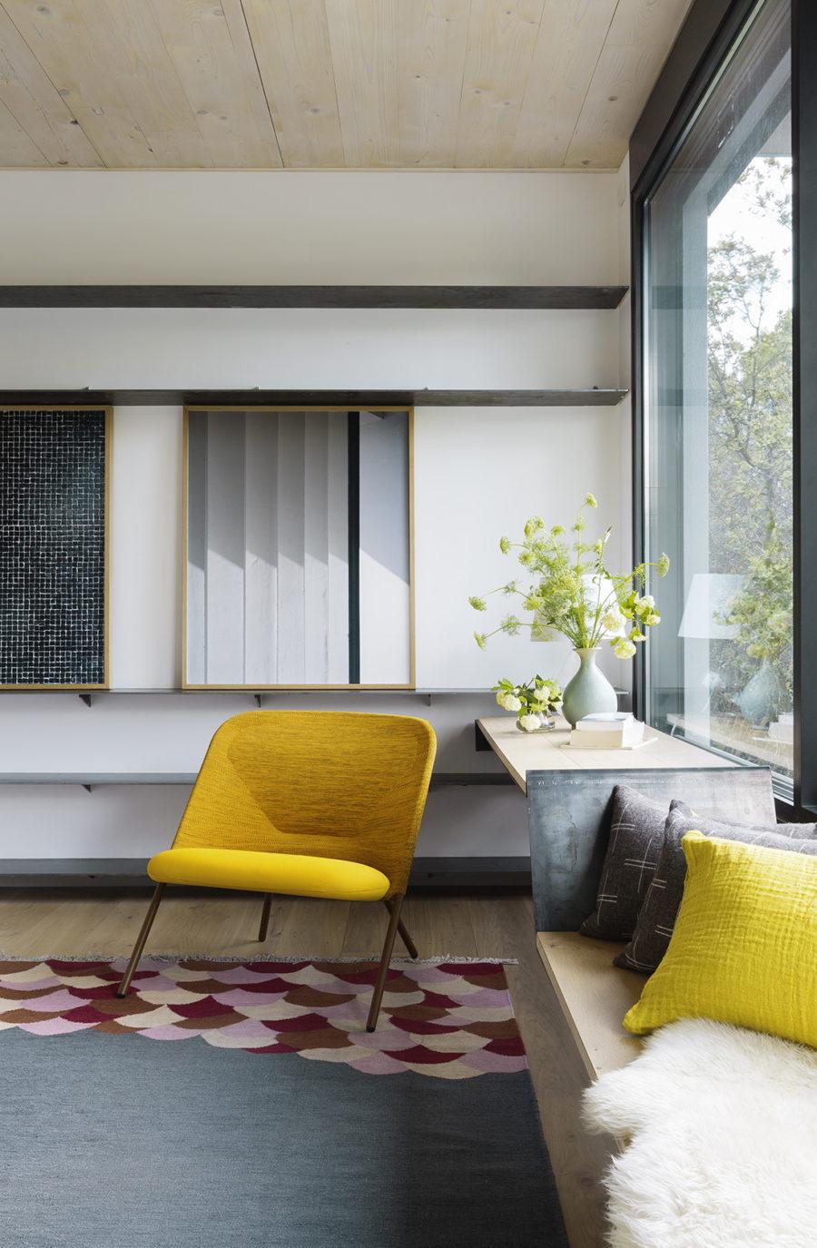 Elementos estructurales de obra en el dormitorio de Casa CH