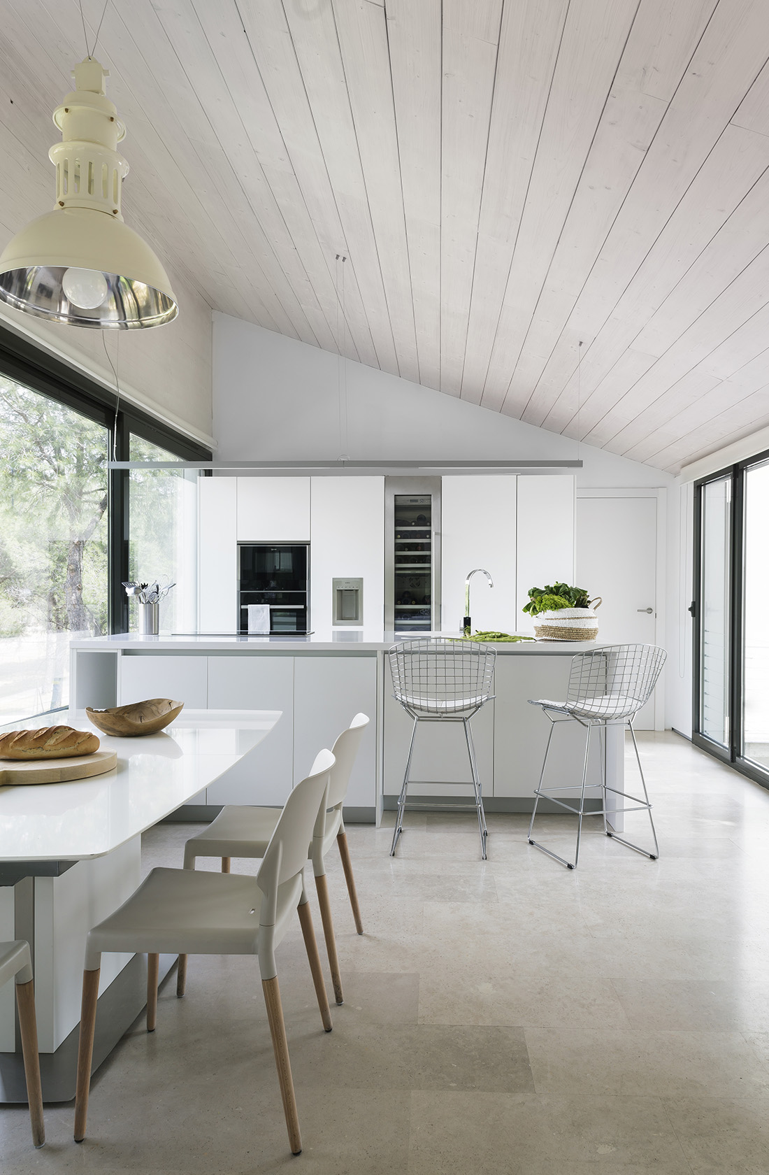 Cocina Casa XY, Arquitectura en madera