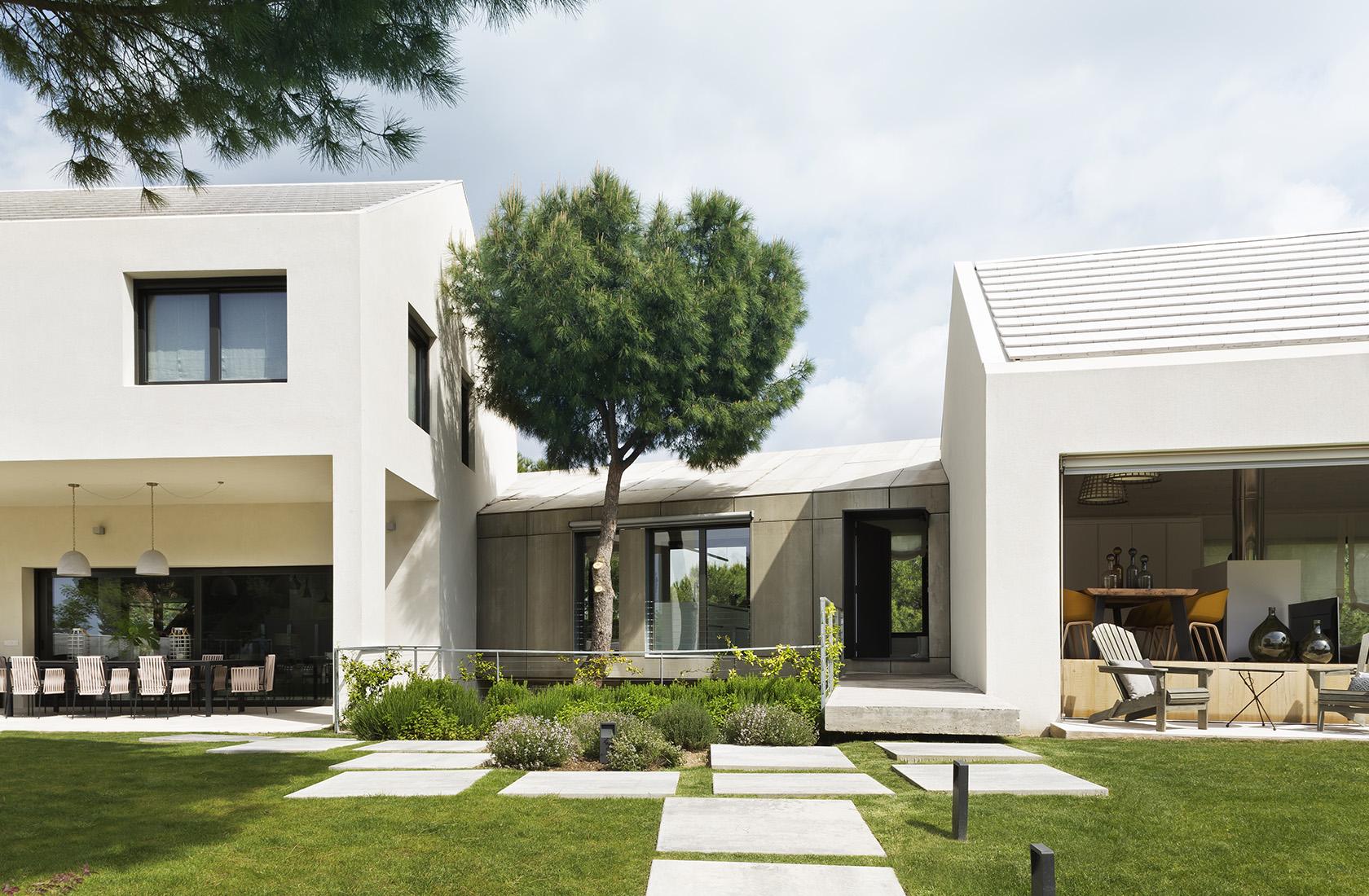 Detalle del módulo central de Casa XY, Arquitectura en madera