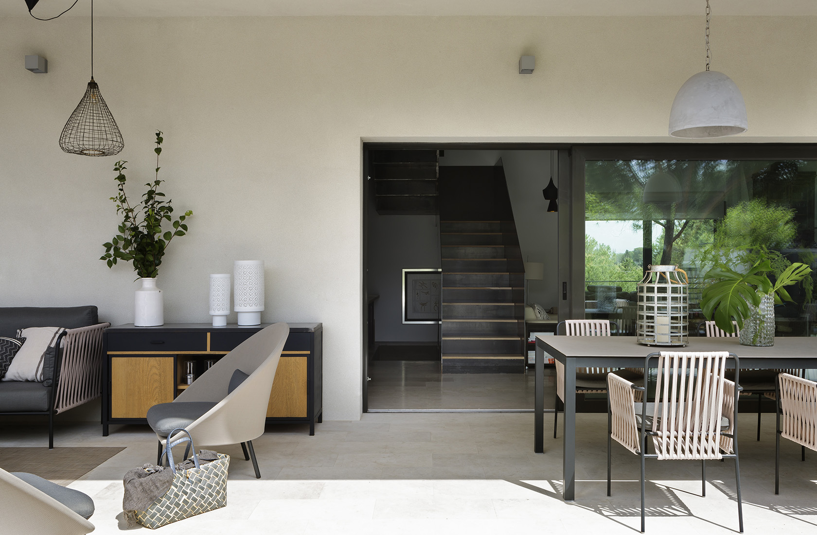 Porche Casa XY, Arquitectura en madera