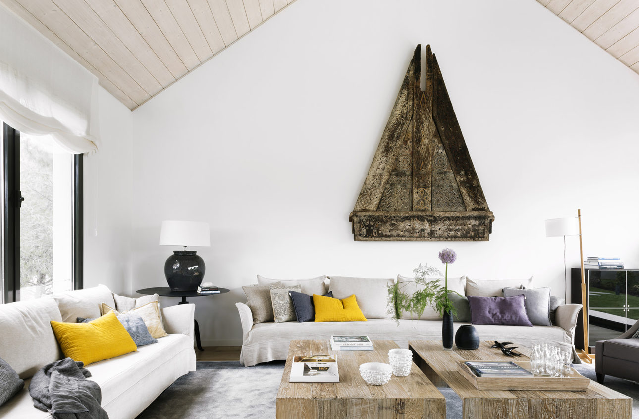 Vista general del Salón del Proyecto de Arquitectura en madera Casa XY