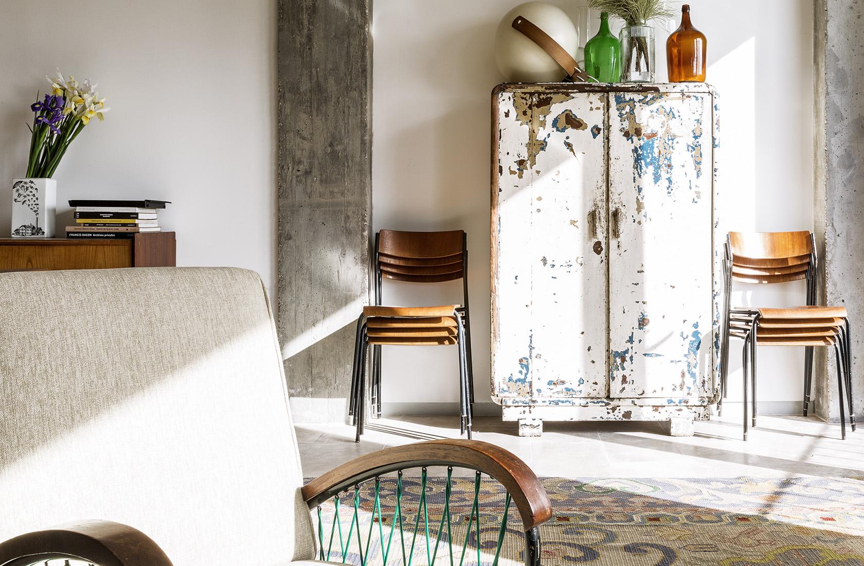 Detalle del mobiliario del hotel micasaenlisboa