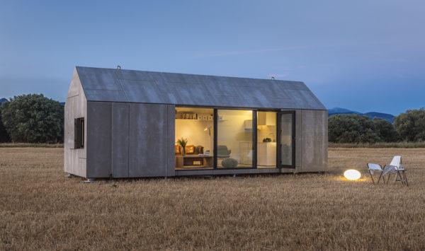 miniatura -Vista general de la vivienda trnsportable prefabricada en madera ÁPH