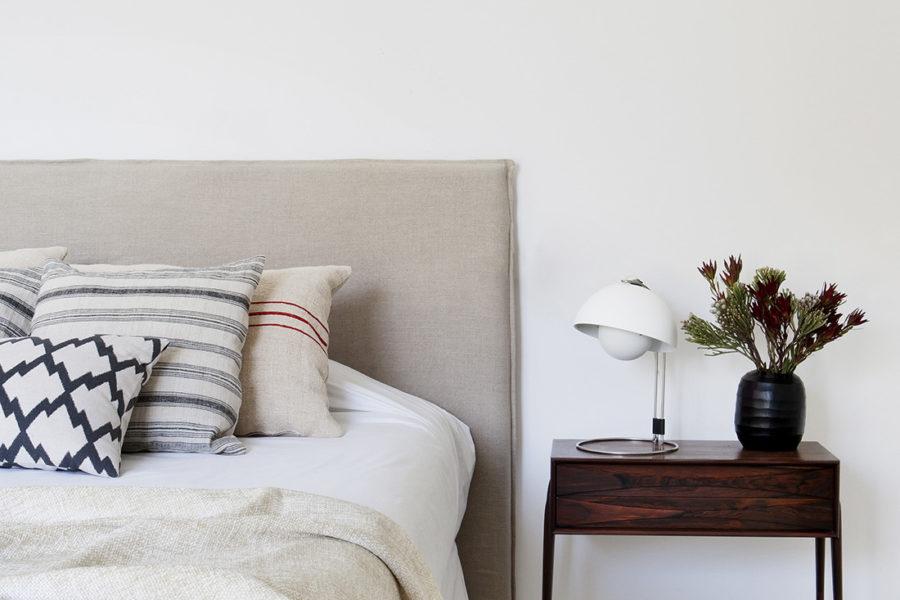 Decoración en dormitorio, vivienda en La Moraleja