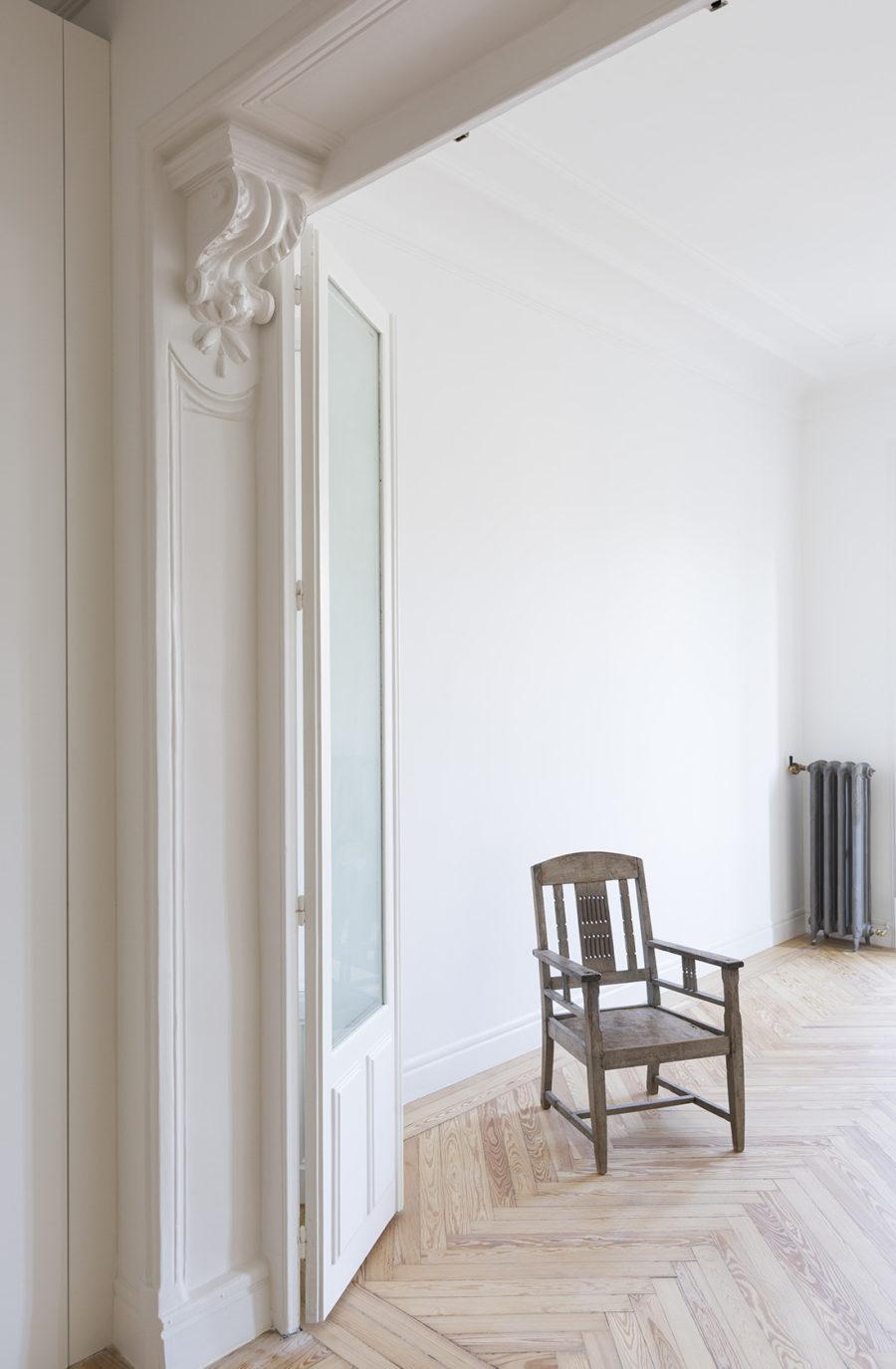 salon de la reforma intergral realizada en un piso en el centro de Madrid