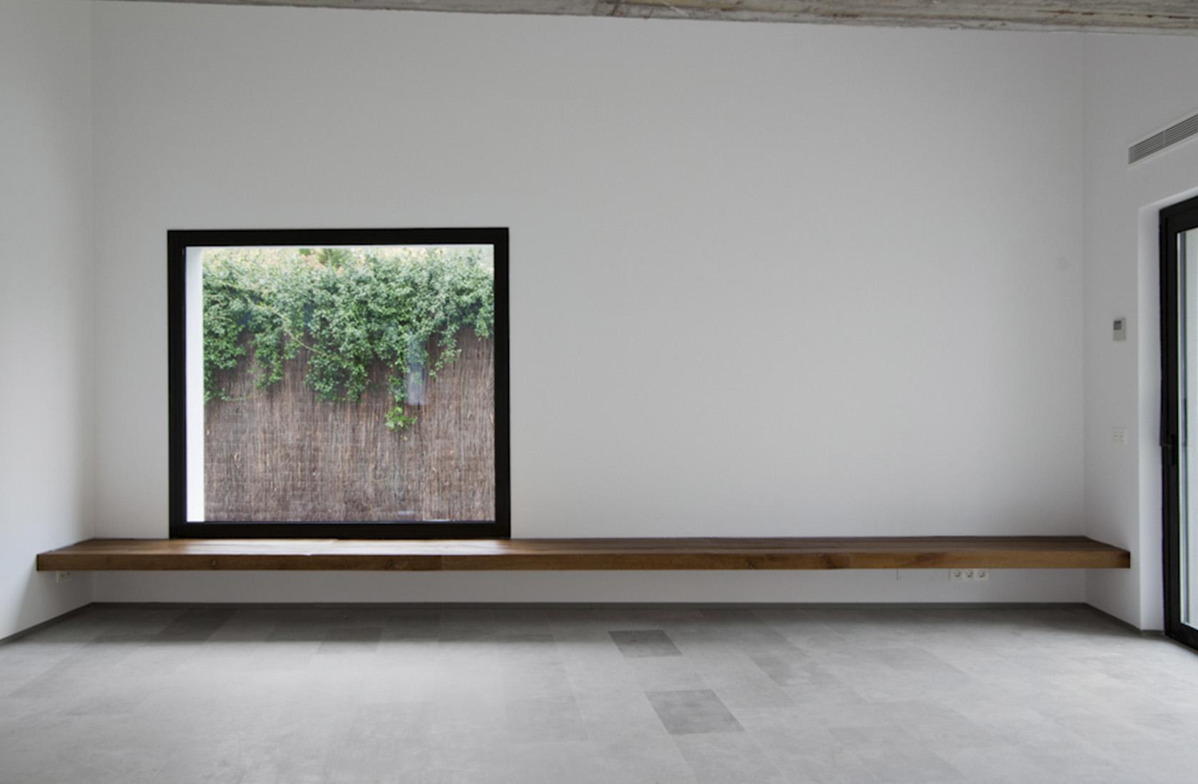 Promocion viviendas aravaca banco madera estructural